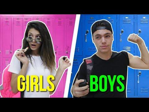 בנים נגד בנות בבית ספר🤘🏼| ♥︎shakeds life