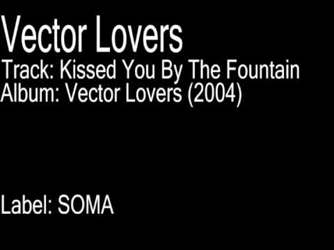 Vector lovers kissed you by the fountain