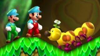 New Super Mario Bros. U - 100% Walkthrough (2 Player) - World 5: Soda Jungle