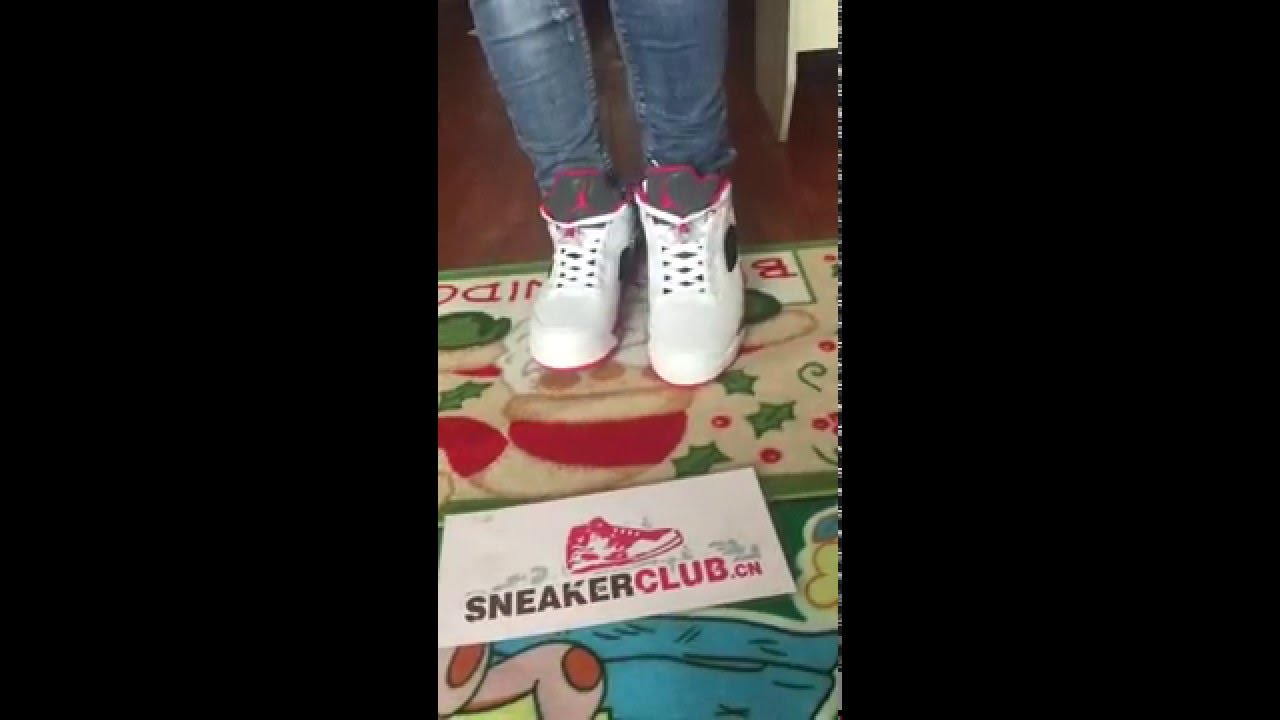 fc95e2609b93a9 on foot review for Air jordan 5 low fire red - YouTube