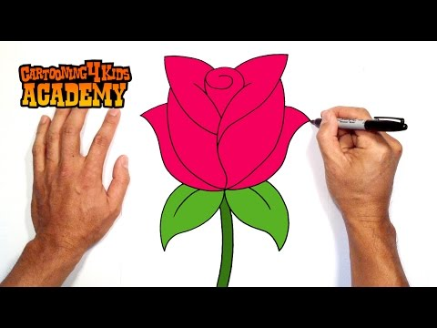 how to draw a rose easy method