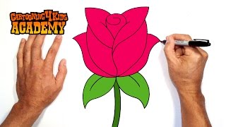 How to Draw a Rose- Art for Beginners