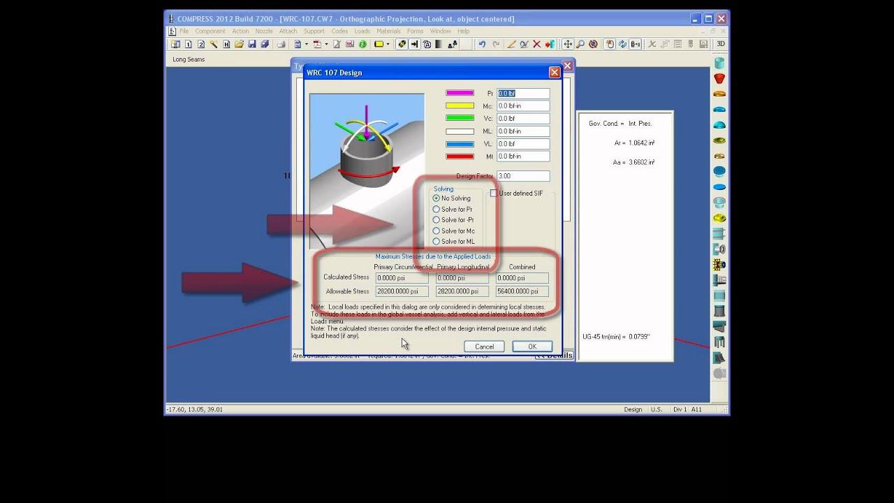 External Nozzle Loads Design Using COMPRESS