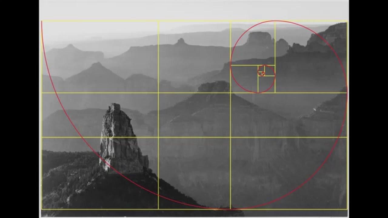 Ansel adams the golden rectangle ratio number phi for Golden ratio artwork