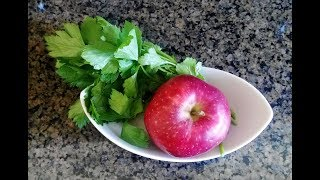 瘦身美膚防便秘只要這一杯芹菜蘋果蔬果汁
