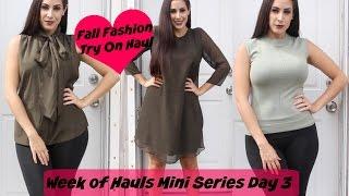 NY & Company Fall Fashion Try On | Week Of Hauls Day 3