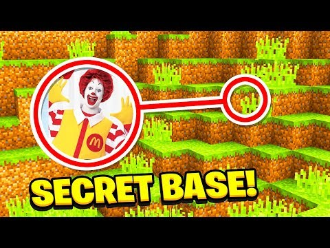 Minecraft: We Found The MCDONALDS SECRET BASE! (Ps3/Xbox360/PS4/XboxOne/PE/MCPE)