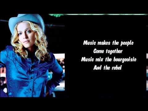 Madonna - Music Karaoke / Instrumental with lyrics on screen