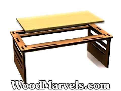 Build Your Own Wooden Portable Bed Tray Table!   YouTube