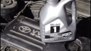 How to change oil Toyota Corolla VTTi engine. Years 2000-2007.