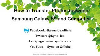 How to Transfer Photos between Samsung Galaxy S9 and Computer
