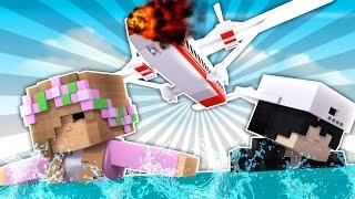 LITTLE KELLY & RAVEN ARE IN A PLANE CRASH! Minecraft CastAway #2 w/ScubaSteve (Custom Roleplay)
