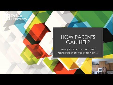 DeSales Wellness - How Parents Can Help