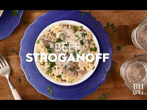 Beef Stroganoff | Cooking: How-To | Better Homes & Gardens
