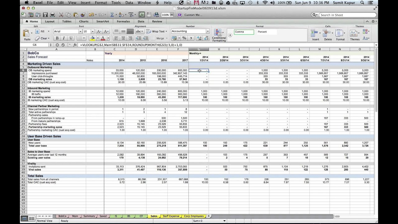 Financial Modeling Excel Templates Hospitality Manager
