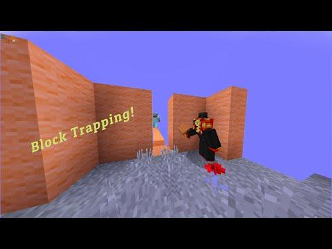 Block trapping! Minecraft Bedrock: The Hive treasure wars