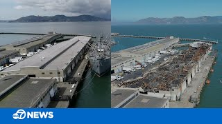 Fisherman's Wharf Fire: Drone Captures Before And After Images Of Pier 45 In San Francisco