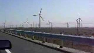 Wind farm on the way to Turpan, Xinjiang, China
