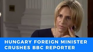 Hungarian Foreign Minister DEMOLISHES triggered BBC reporter calling for open borders in Europe