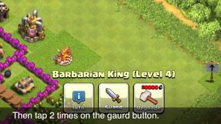 Clash Of Clans Epic Glitch: Barbarian King Out Of The Map