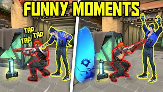 FUNNIEST MOMENTS IN VALΟRANT #54...