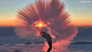 Must-see: Hot tea thrown into the Arctic air, see what it does