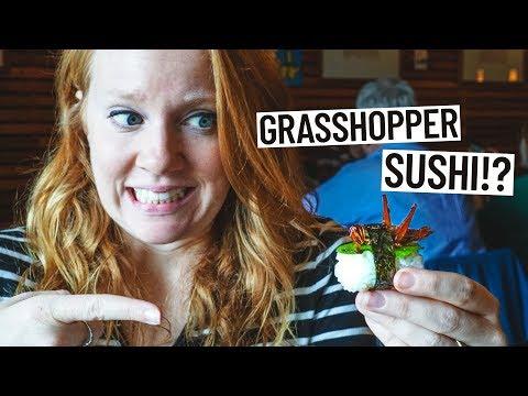 Weirdest Sushi EVER - GRASSHOPPER ROLL & POP ROCKS ROLL!? (Portland, Oregon)