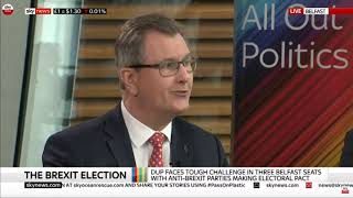 DUP Chief Whip Sir Jeffrey Donaldson on Sky News