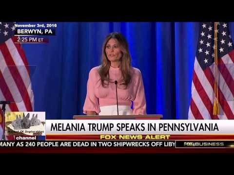 First Lady Melania Trump 2nd Speech in Berwyn, Pennsylvania - First Lady's Plan - 1080 HD 2016 NOV 3