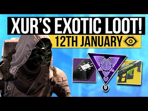 Destiny 2   NEW XUR LOCATION & EXOTICS! - DLC Exotic Inventory, Fated Engram & More! (12th January)