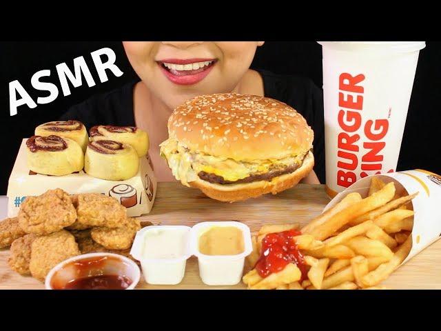 ASMR BURGER KING BIG KING XL Cheeseburger, Chicken Nuggets, Cini Minis