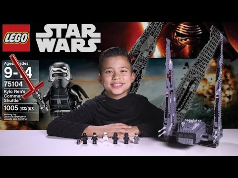 KYLO REN'S COMMAND SHUTTLE - LEGO Star Wars Force Awakens Set 75104 Time-lapse, Unboxing & Review