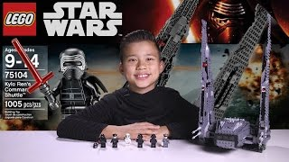 Repeat youtube video KYLO REN'S COMMAND SHUTTLE - LEGO Star Wars Force Awakens Set 75104 Time-lapse, Unboxing & Review