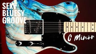 Seductive Bluesy Groove | Guitar Backing Track Jam in C Minor