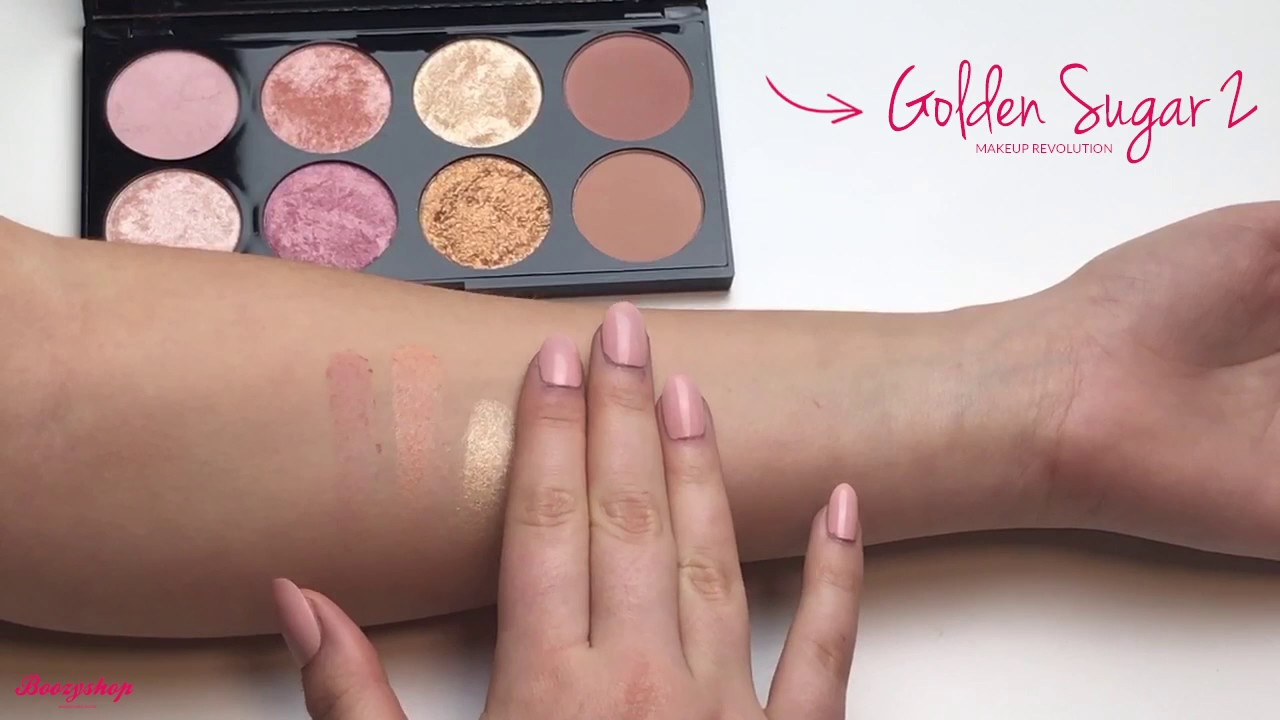 Swatches Golden Sugar 2 Rose Gold Makeup Revolution Youtube