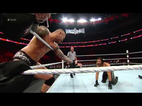 Roman Reigns vs. Randy Orton & Seth Rollins – 2-on-1 Handicap Match: Raw, March 9, 2015