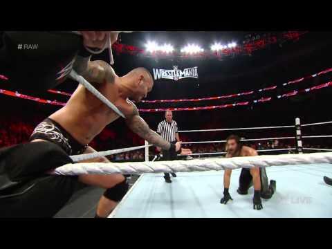 Roman Reigns vs. Randy Orton & Seth Rollins – 2-on-1 Handicap Match: Raw, March 9, 2015