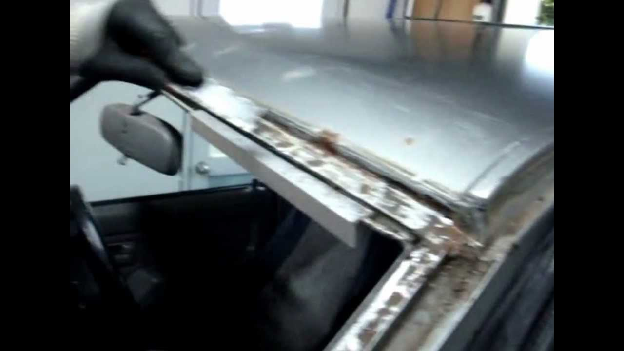 How To Repaier Sheet Metal Around Windshield Roof How To