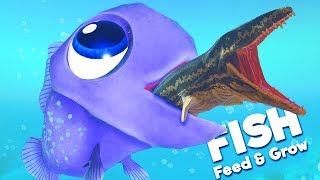 THE CUTEST FISH EVER vs DEADLY PROGNATHODON! | Feed and Grow Fish