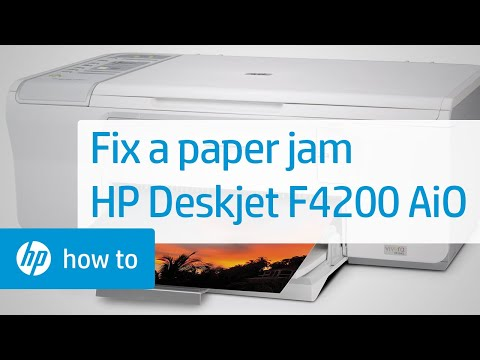Fixing A Paper Jam Hp Deskjet F4200 All In One Printer