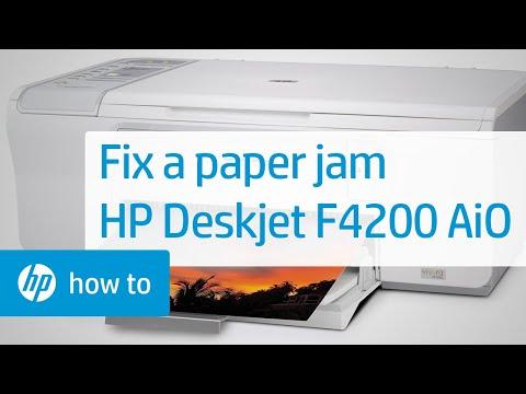 Fixing A Paper Jam Hp Deskjet F4200 All In One Printer
