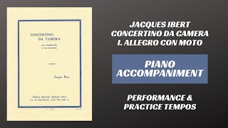 Jacques Ibert – Concertino da Camera, mvt. I (Piano Accompaniment)