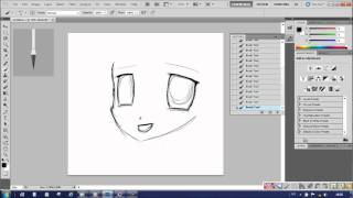 Photoshop tutorials & shows - Anime Girl drawing