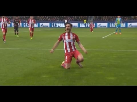 Saul Niguez Amazing Goal - Bayer Leverkusen vs Atletico Madrid 0-1 - UCL  21-02-2017 HD 6036b677cbde9