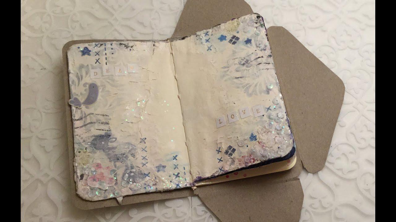 diy moleskine postal notebookgreeting card youtube