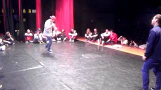 "Šmel vs ""Miko"" TOP 16 Bboy King Battle Bratislava 2014"