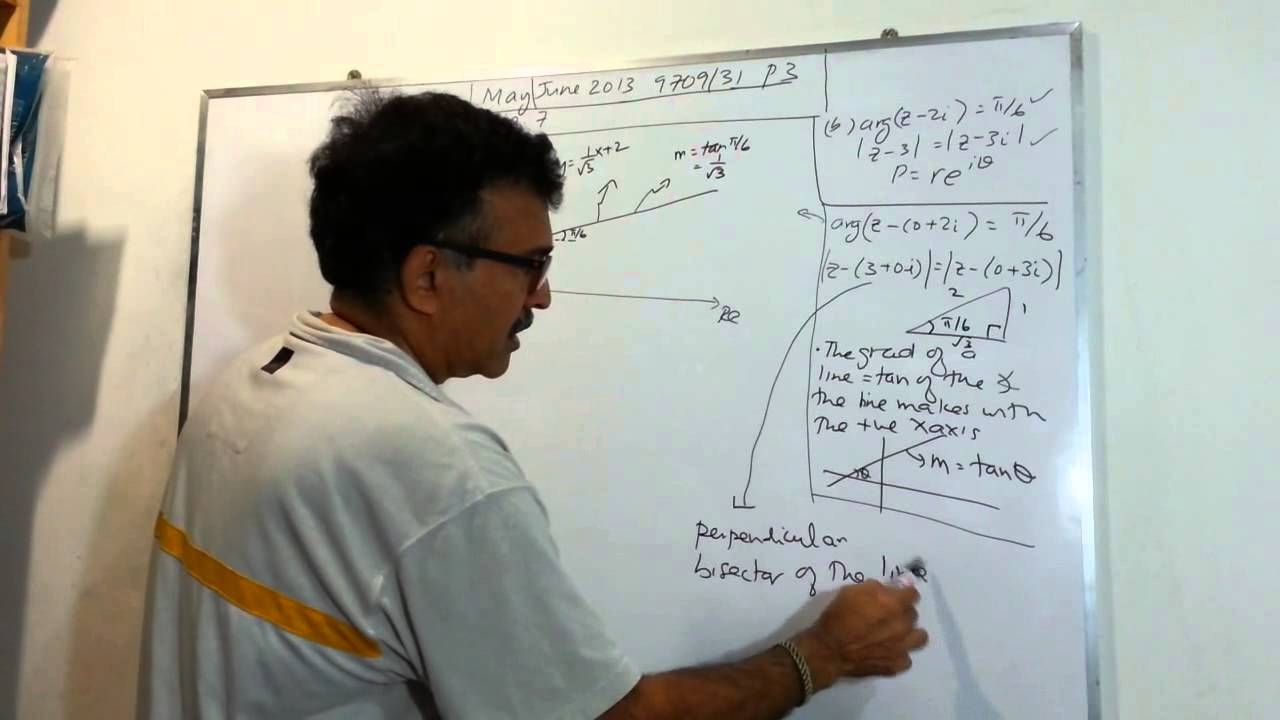 CIE Pure Maths P3 May/June 2013 question 7b solution video - YouTube