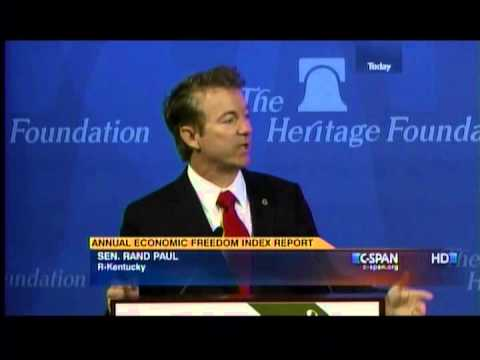 Sen. Paul Speaks at 2014 Index of Economic Freedom- January 14, 2014