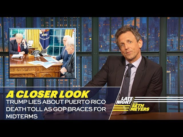 Trump Lies About Puerto Rico Death Toll as GOP Braces for Midterms: A Closer Look