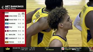 NCAAB 2019 02 02 Oklahoma at West Virginia 720p60